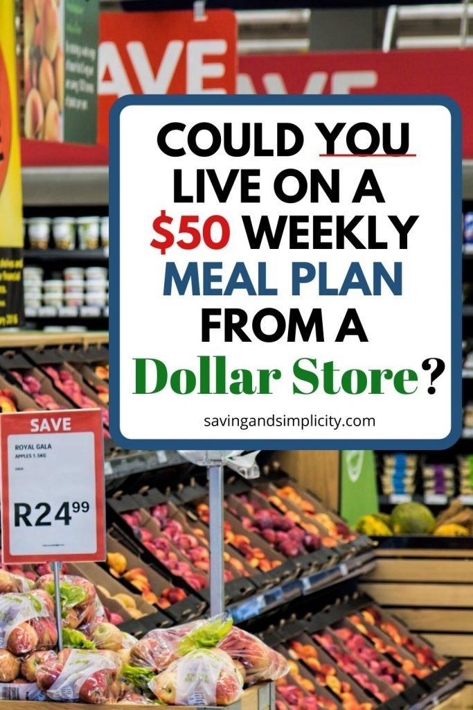 dollar store meal plan