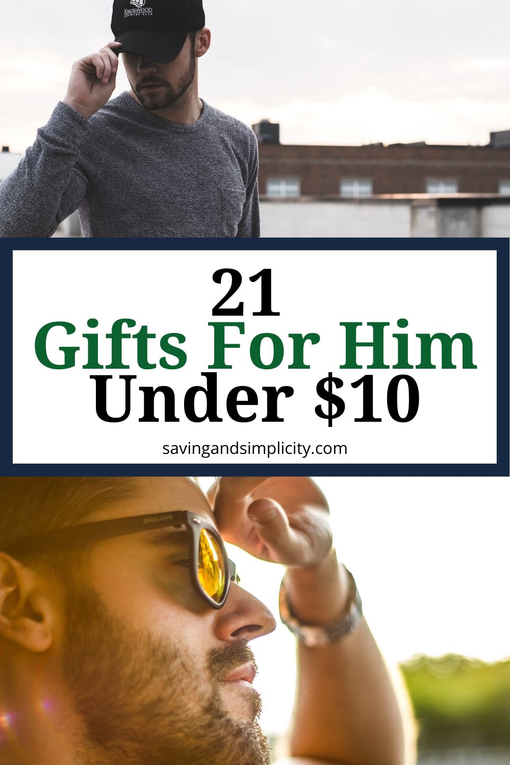 21 gifts for him under $10. Father's Day, Christmas gifts, birthday gifts and more. Keep your holidays on budget with these amazing gifts under $10