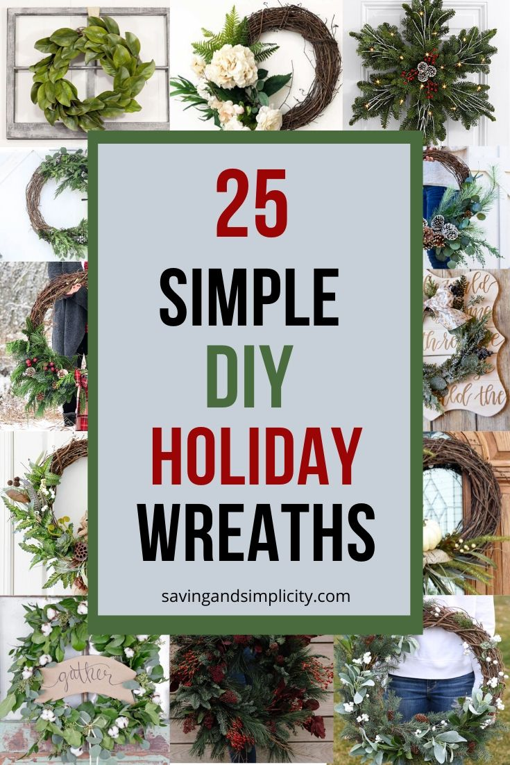 Amazing Diy Holiday Wreaths Saving Simplicity