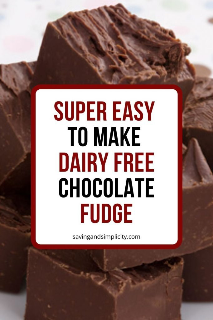 Have you given up dairy? Do you miss chocolate? Try this amazing dairy free chocolate fudge recipe. You only need two ingredients and a few minutes.