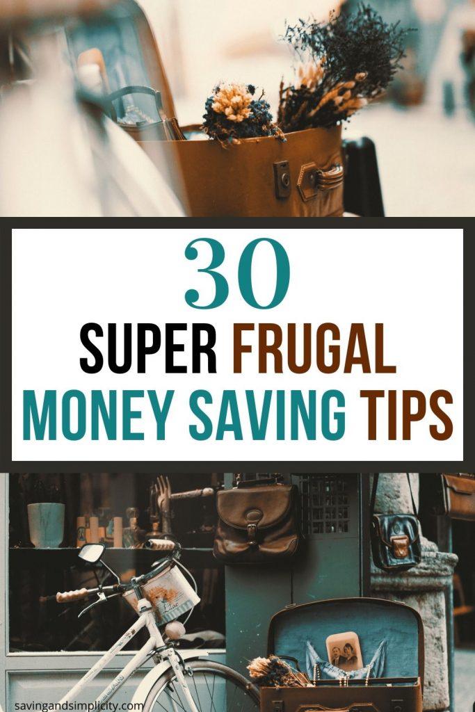 super frugal money saving tips