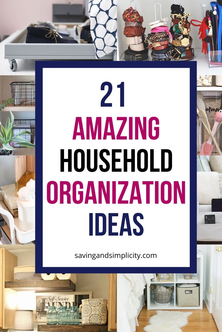 household organization ideas