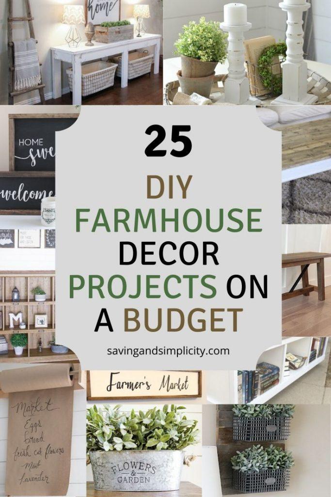 25 Rustic Farmhouse Diy Projects Saving Simplicity,Built In Bookshelf And Desk Ideas