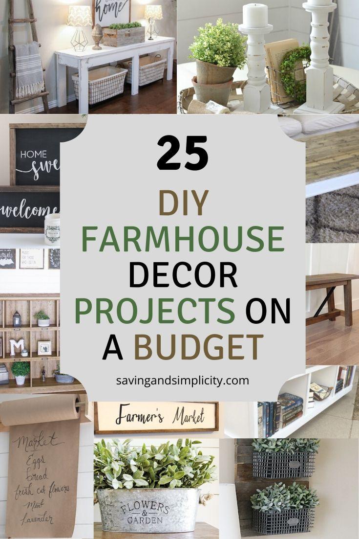 DIY farmhouse decor ideas