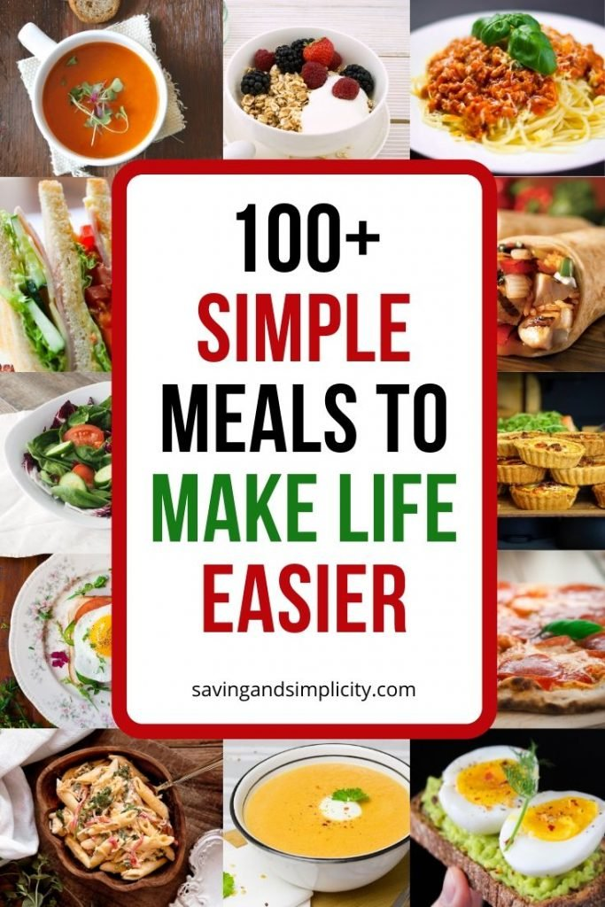 Are you struggling with meal time and money. Discover over 100 simple meals to help get you through the week. Simple, easy to prepare money saving meals.