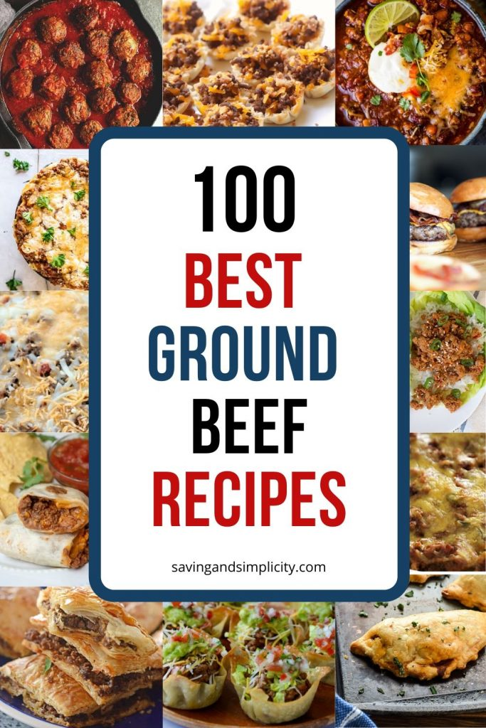 An amazing collection of 100 of the best ground beef recipes. Pasta, soups, main dishes,Keto, Instant Pot and so many more meals and recipes to choose from.