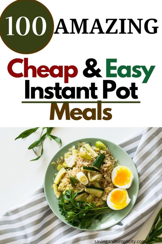 cheap instant pot recipes