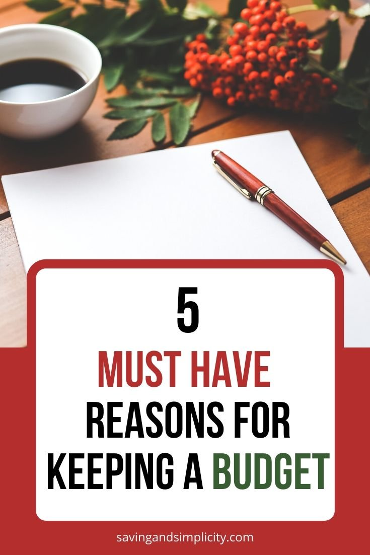 reasons to have a budget