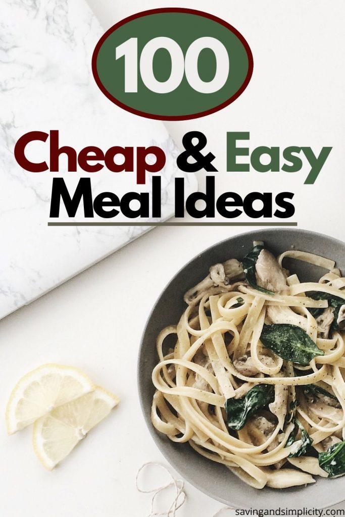 cheap meal ideas