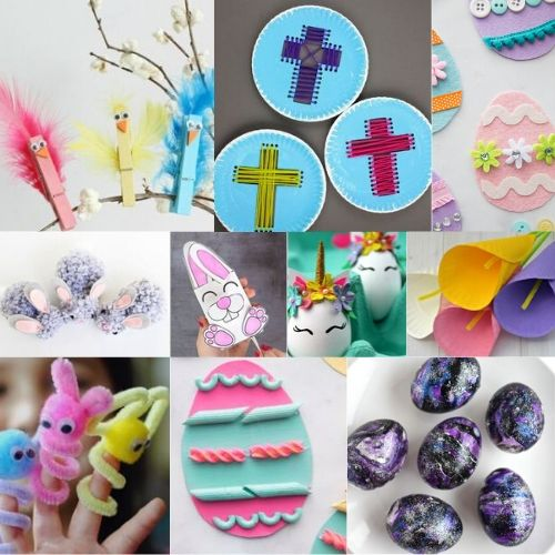 bunnies, eggs and Easter crafts