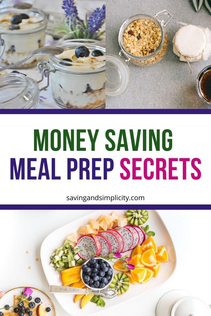 meal prep secrets