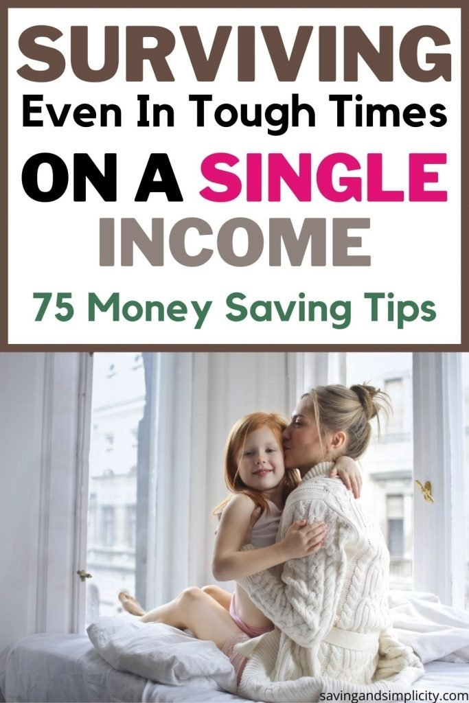 surviving on a single income