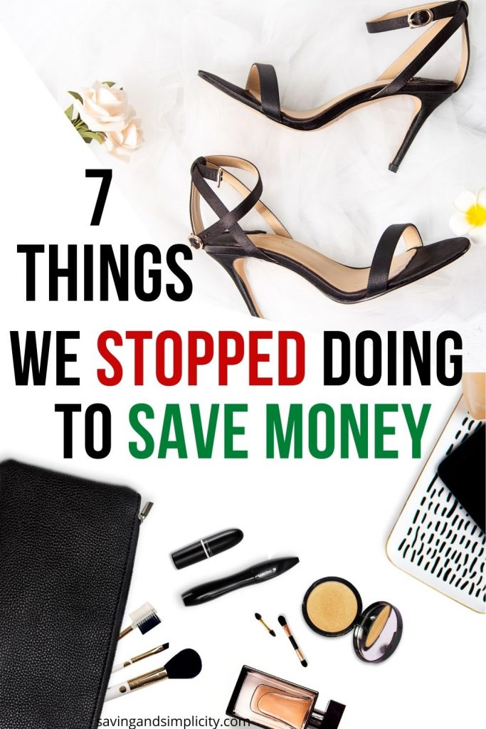 stopped to save money