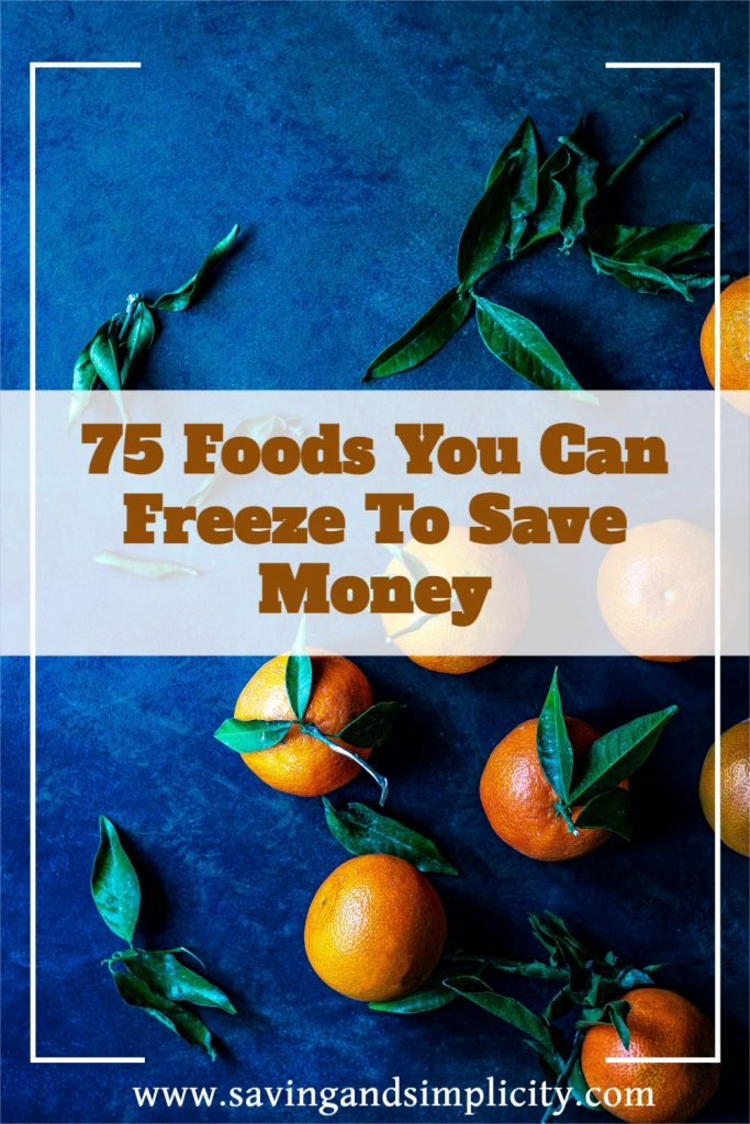 foods you can freeze