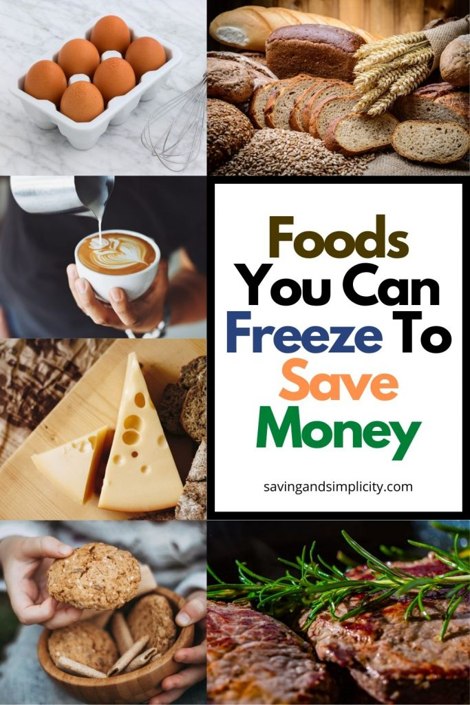 foods you can freeze save money