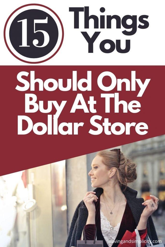 dollar store shopping