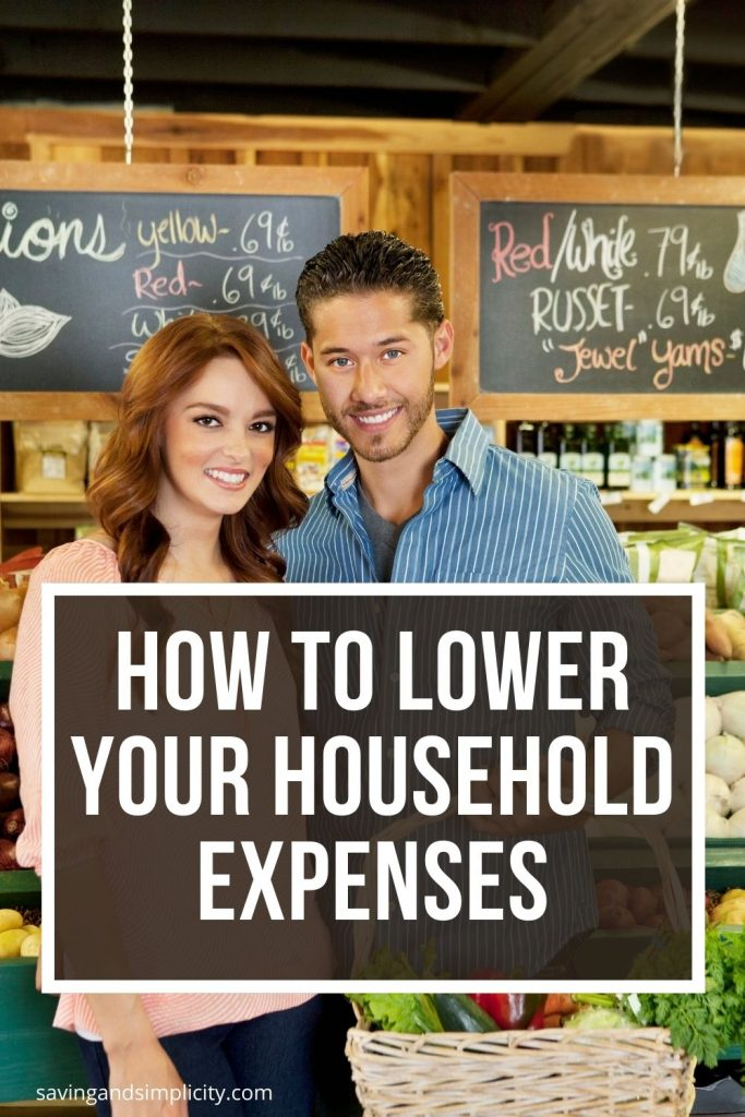 how to lower household expenses