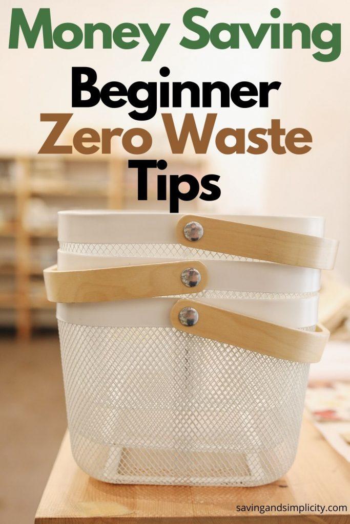 beginner zero waste tips