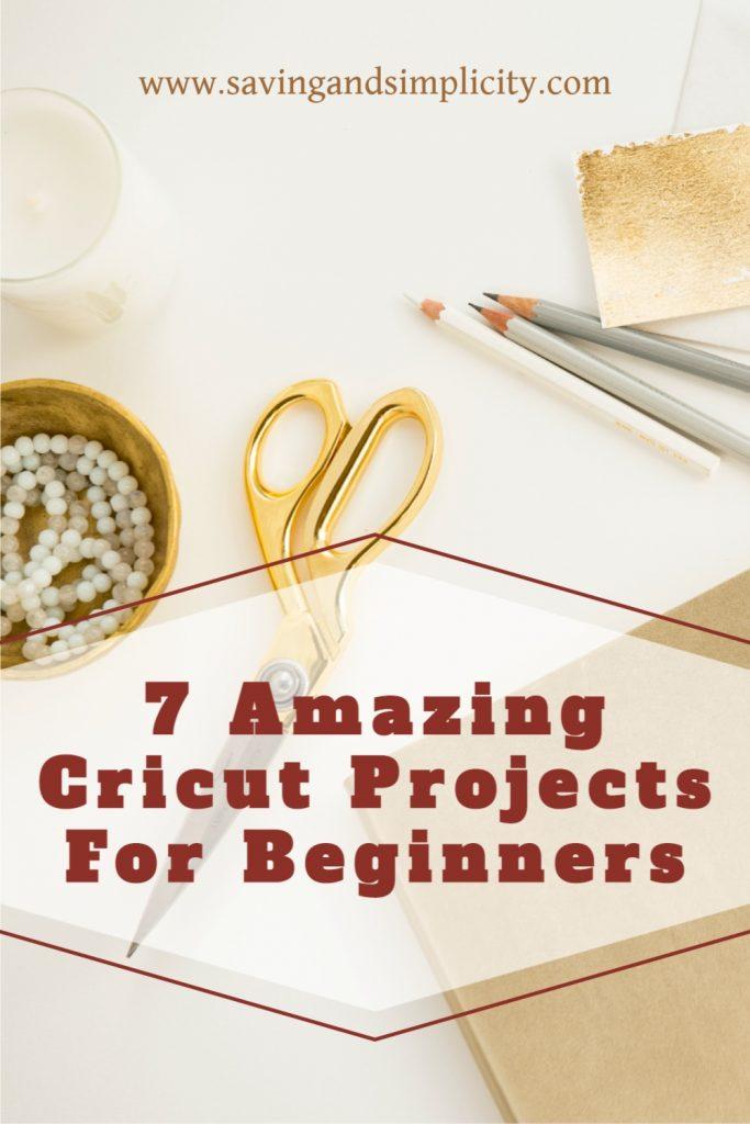 beginner cricut projects