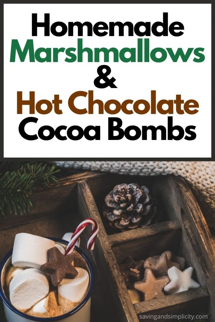 marshmallows and chocolate bombs
