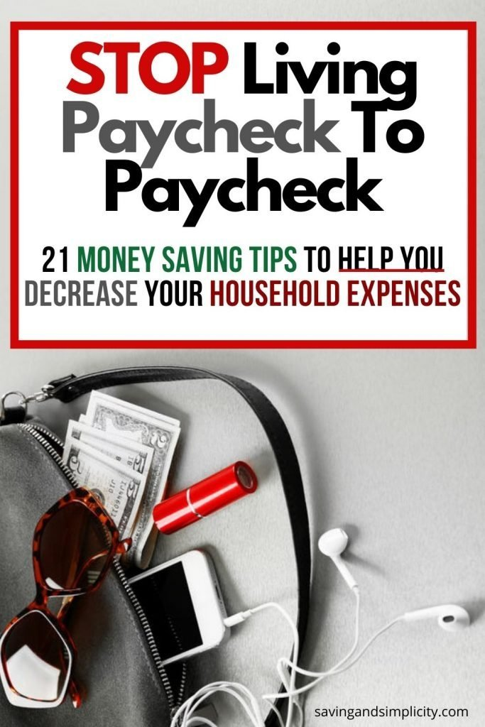 decrease household expenses