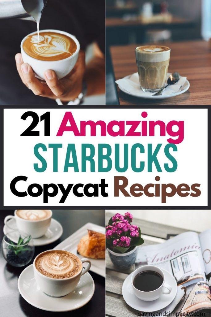 Starbucks trinken Rezepte