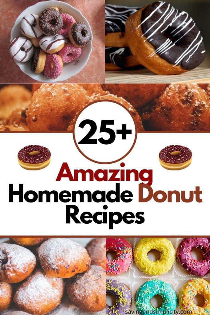 homemade donut recipes