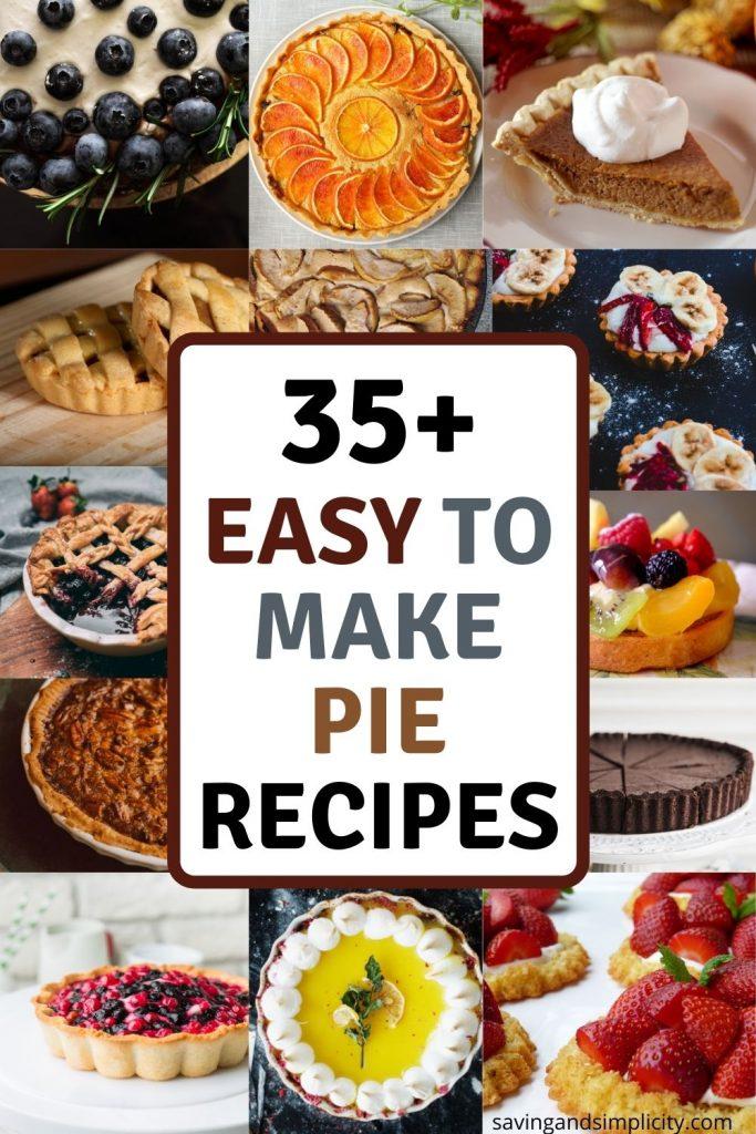 easy to make pie recipes