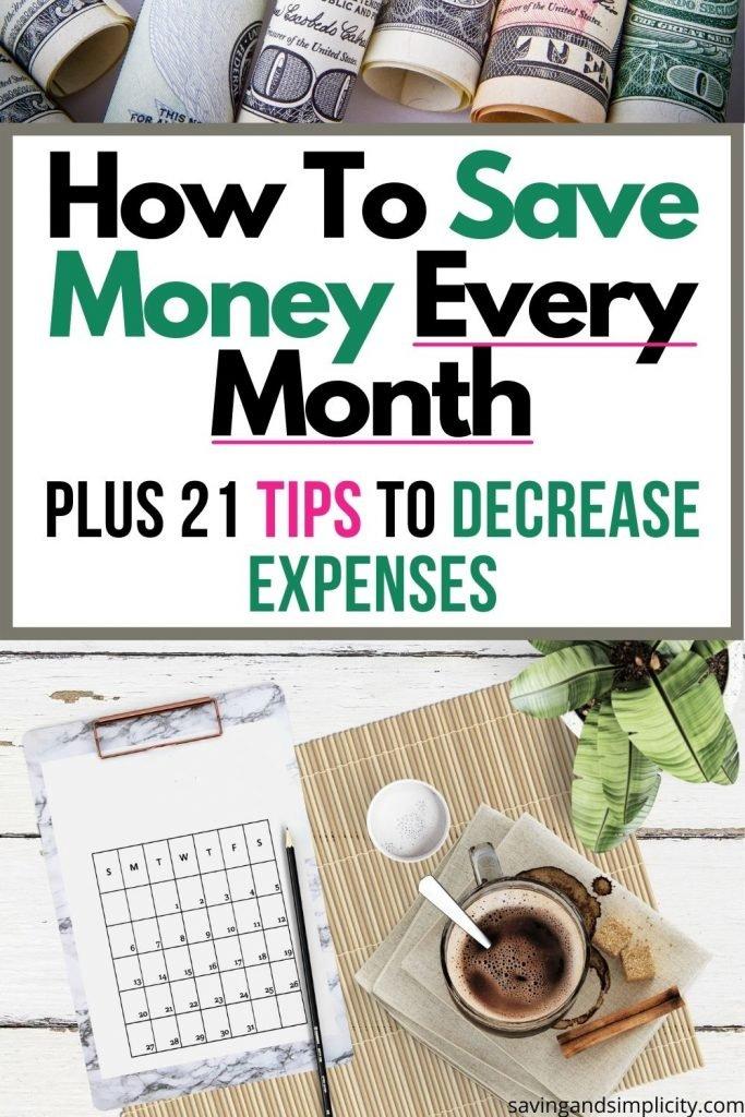 wie man jeden Monat Geld spart