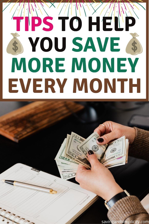 wie man jeden Monat mehr Geld spart