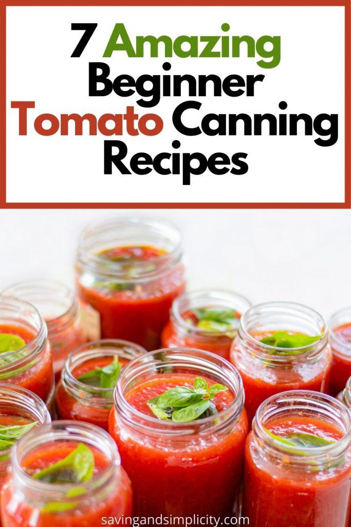 beginner tomato canning