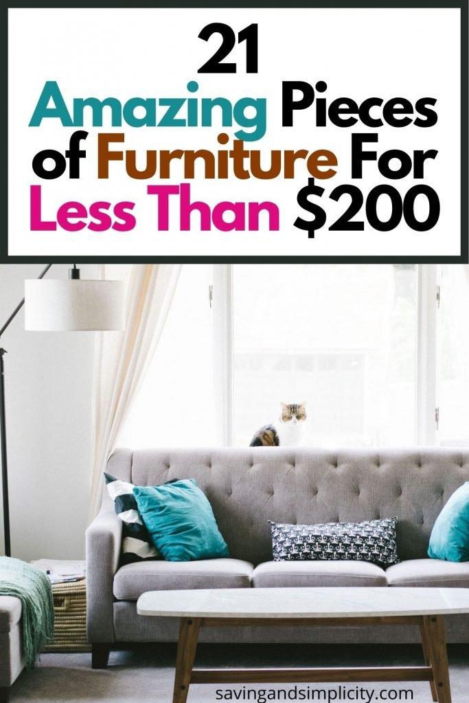 cheap furniture under 200 dollars