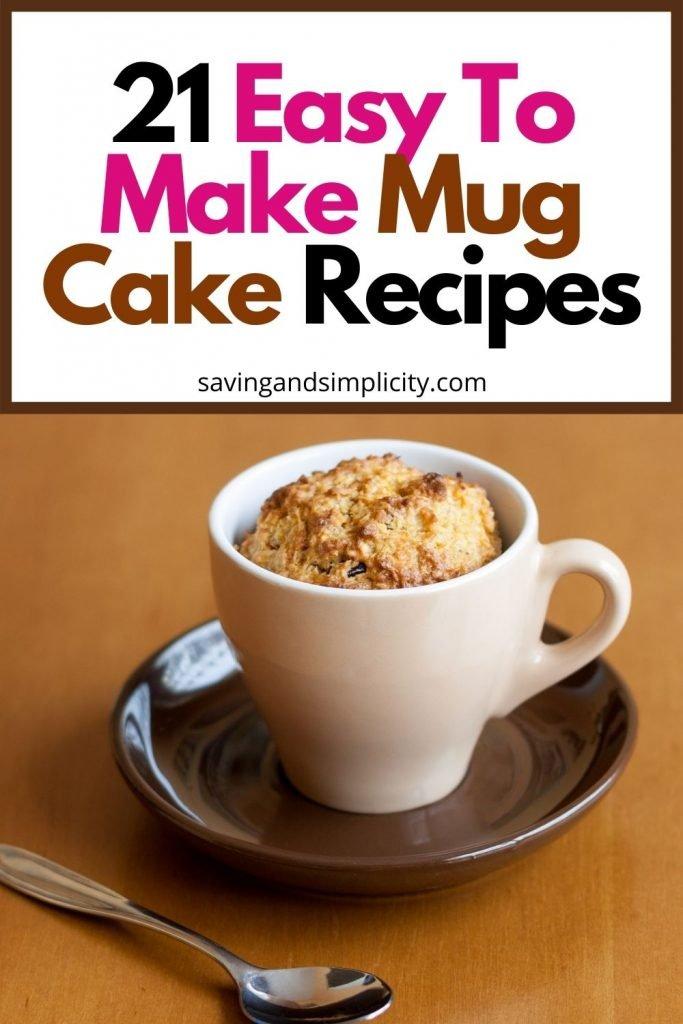 easy mug cake recipes