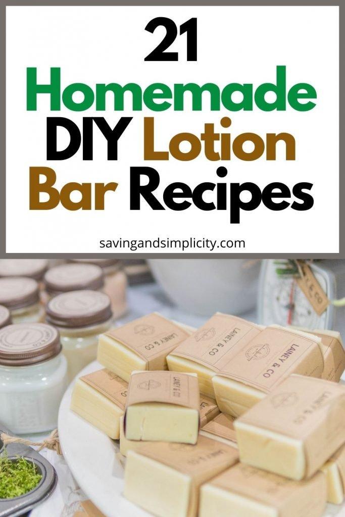 homemade lotion bar recipes