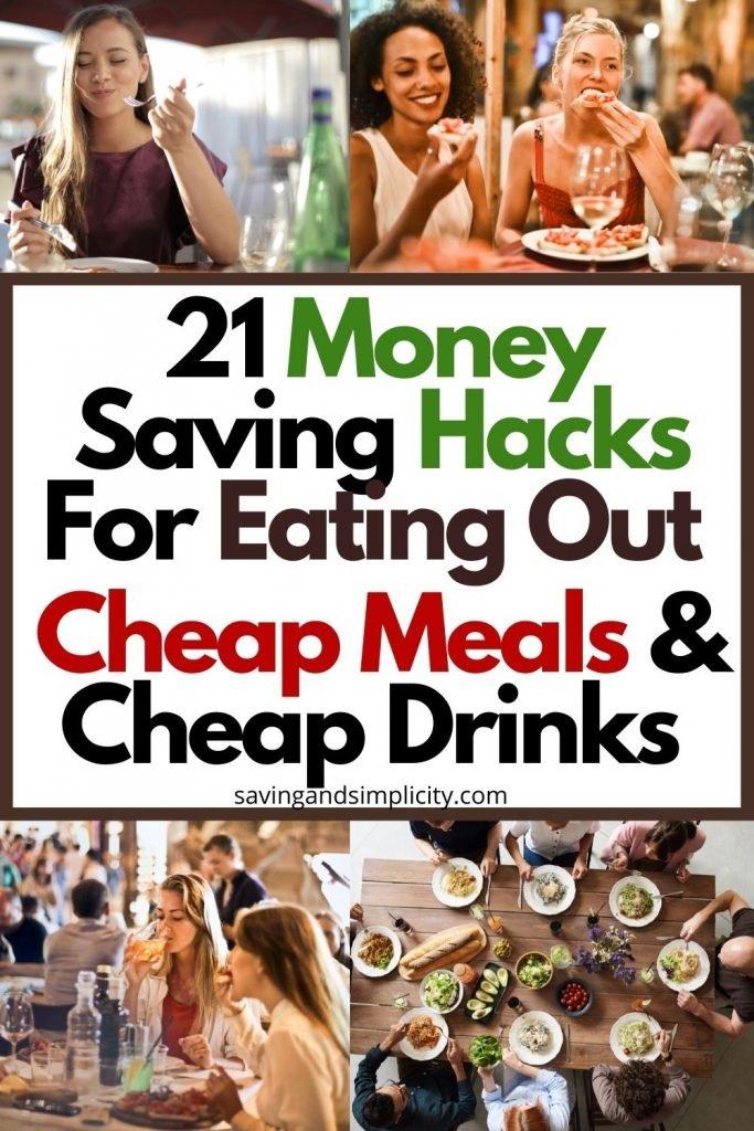 money saving hacks, cheap meals