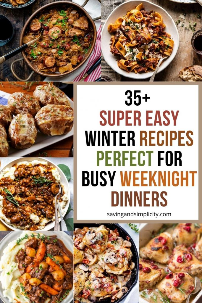 easy winter weeknight dinner ideas