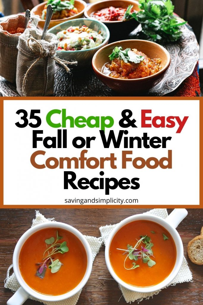 cheap comfort food recipes