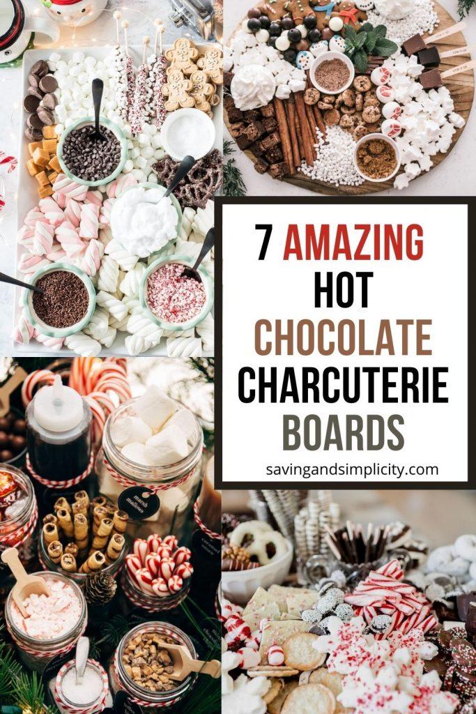 hot chocolate charcuterie board